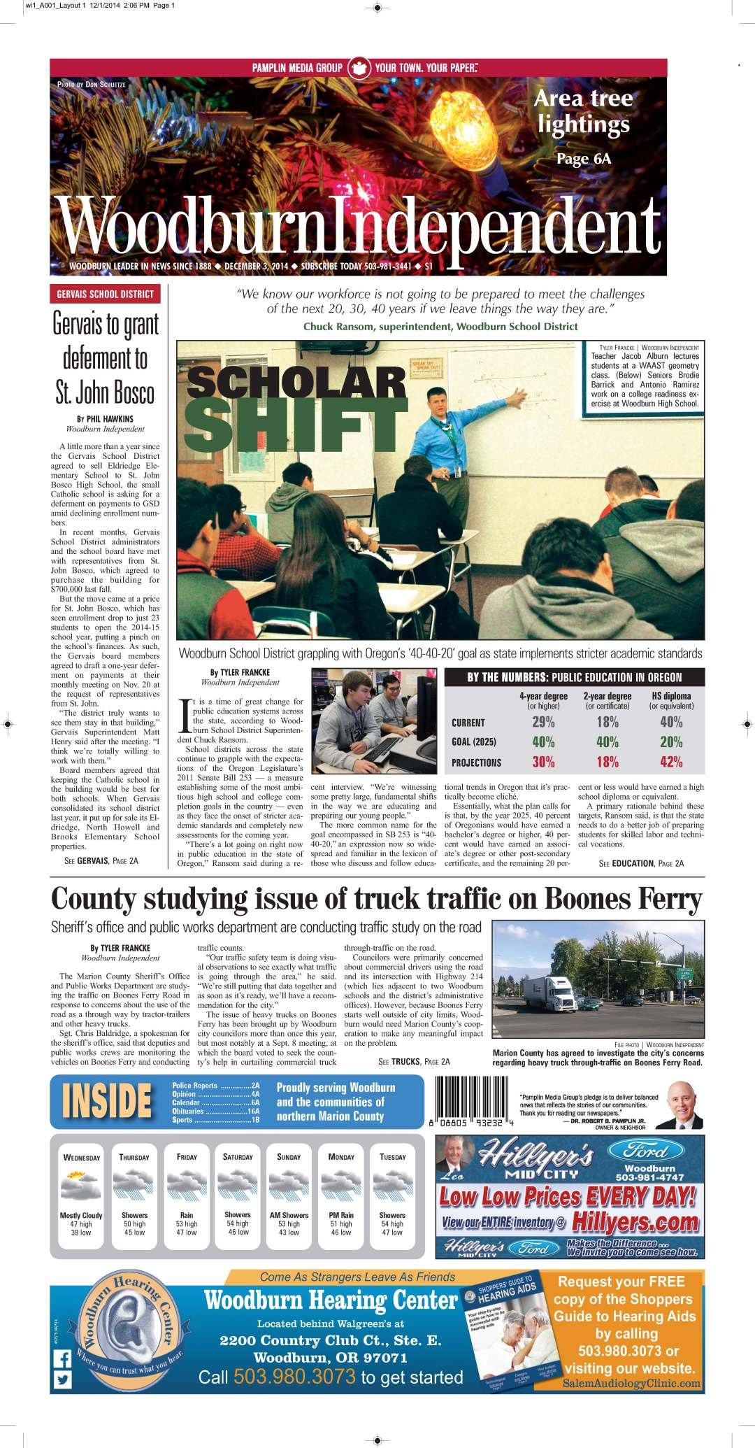 Woodburn Independent | Dec. 3, 2014