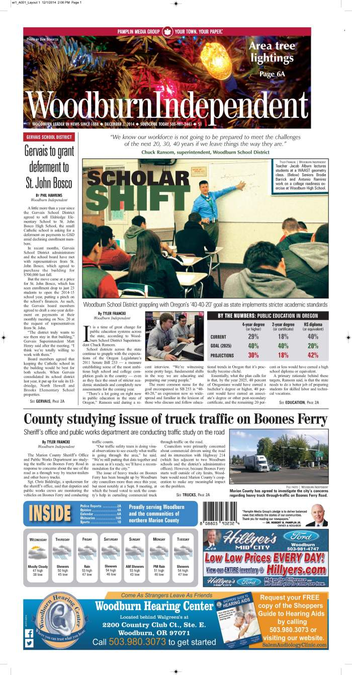 Woodburn Independent | Dec. 3, 2014