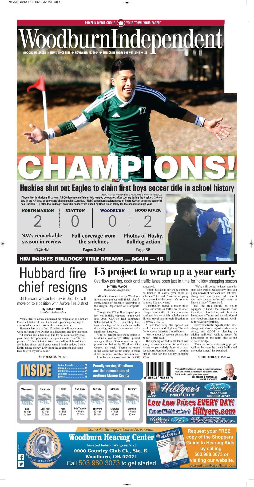 Woodburn Independent | Nov. 19, 2014