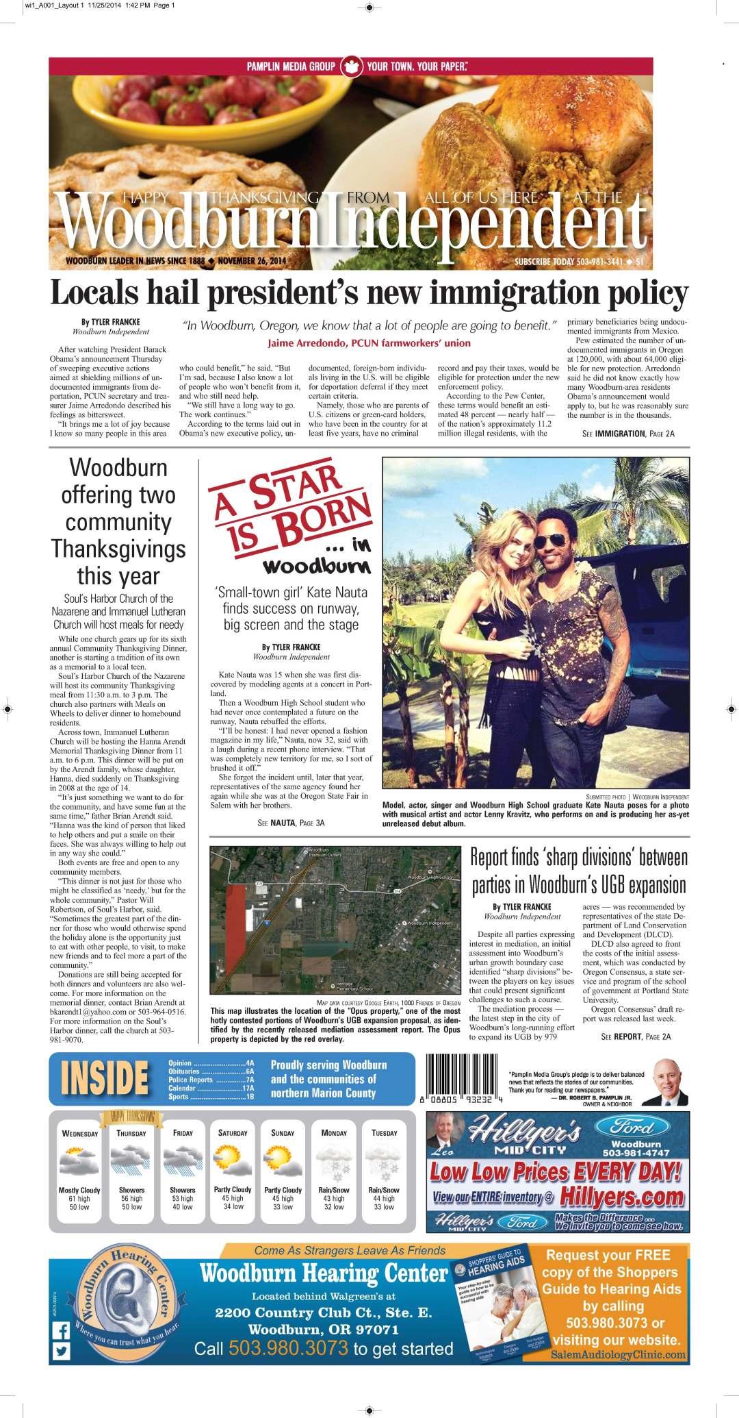 Woodburn Independent | Nov. 26, 2014