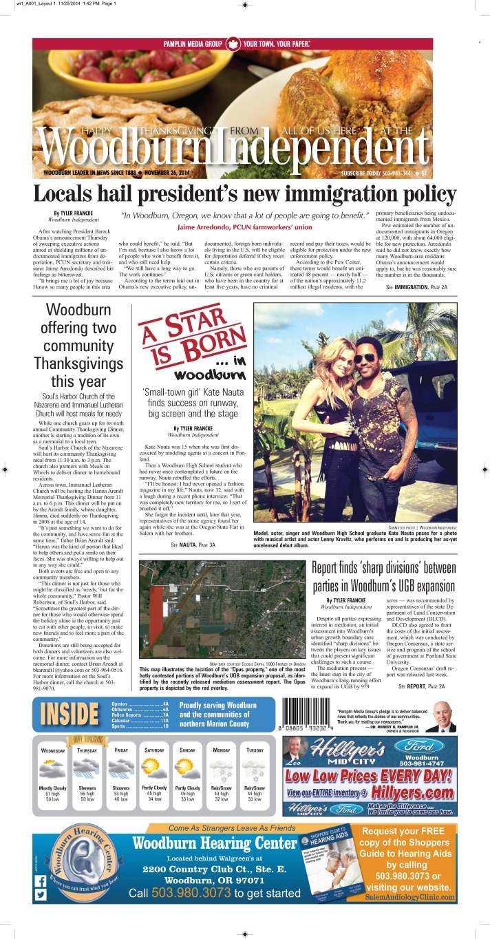 Woodburn Independent | Nov. 26, 2014