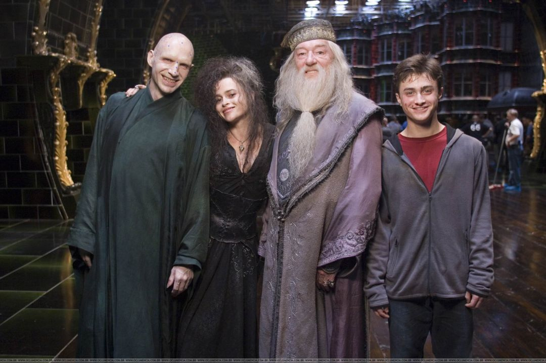 I'm guessing Dumbledore has no idea that the two people on his right are the bad guys.